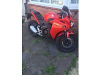 Honda, CBR 125cc, Red very good condition, virtually new.