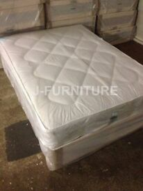 New!!! Divan Bed With Good Quality Medium Firm Mattress.Free Delivery!Cheapest Online! All Sizes!