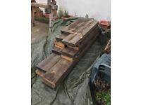 "Reclaimed pitch pine joists 11""x3"""