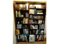 Two Ikea Billy bookcases plus lights