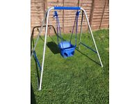 Hardly used baby swing