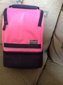 Lunch bag Polar Gear pink & blue