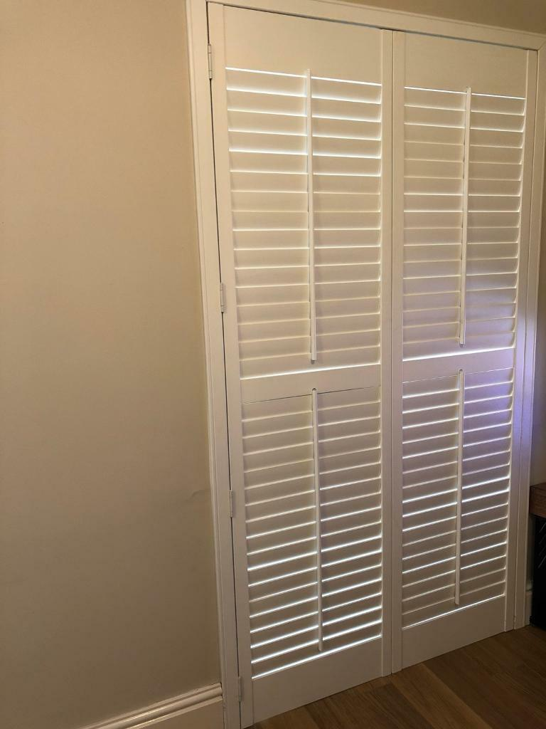 White Wooden Shutter Blinds For Patio Door 117cm Wide X 208cm High In Brough East Yorkshire Gumtree