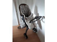 Stokke Xplory v1/Carry-cot/Buggy Pushchair Pram with Accessories