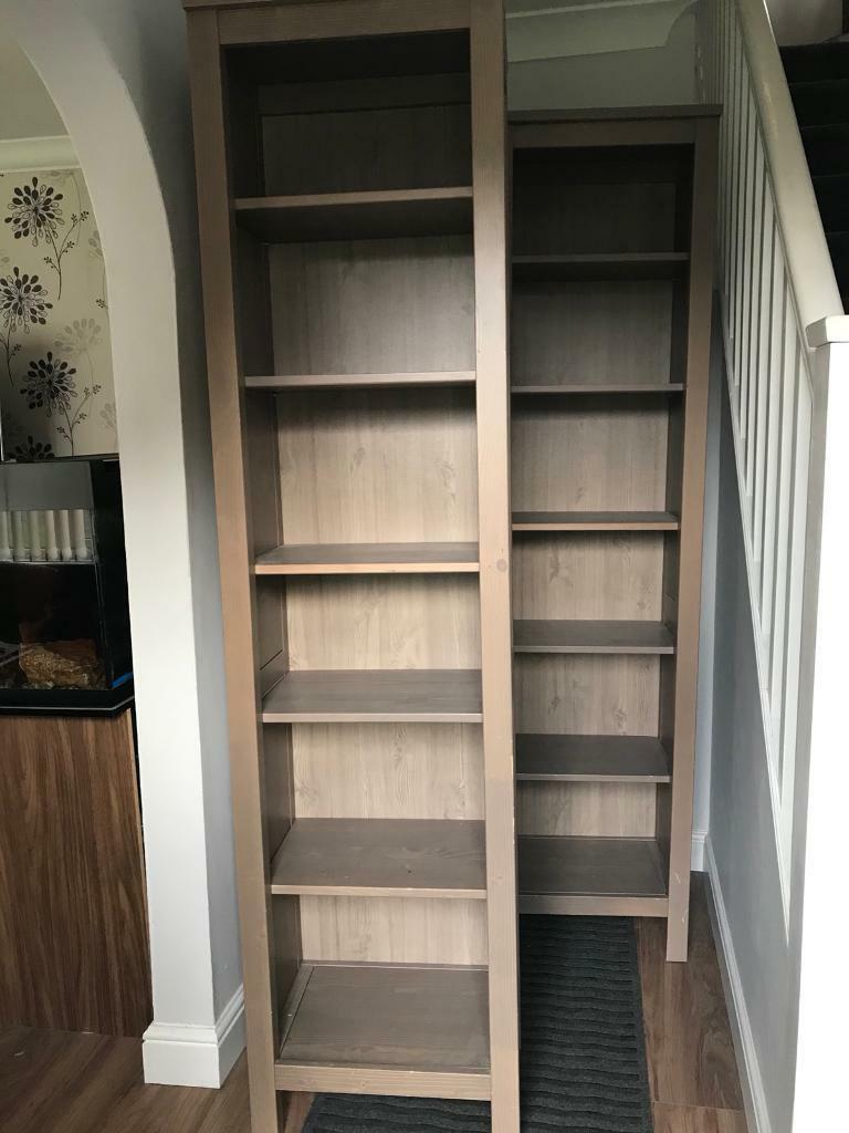 ikea hemnes bookcase grey brown in richmond north yorkshire