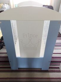 Baby boy prince cot and 3 quilt and bumper sets