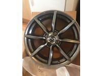 ". New in the box set of 4, 17"" Mazda alloys"