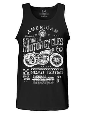 NW MENS PRINTED AMERICAN MOTORCYCLES VINTAGE CLASSIC ORIGINAL ART ROCK TANK TOP