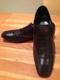 French Connection Black Men's 'Sain' Smart Slip-on Shoes (UK10/EU44)