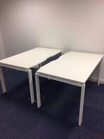 Office desks in White