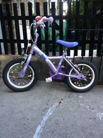 Purple girls bike for 3 year old