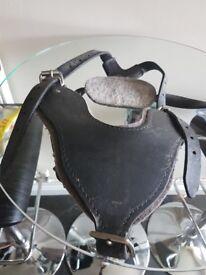 black leather british bulldog harness