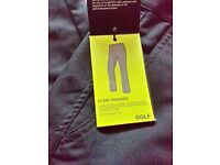 GOLF TROUSERS BLACK BRAND NEW WITH TAGS RRP £29.99