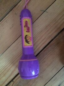 Dora the explorer torch - purple and pink