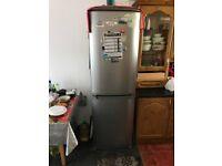 Zanussi silver fridge freezer