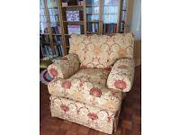 2 Teddington armchairs and 3 seater sofa & arm caps.