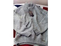Old Boys Network Knitwear. mens XXL grey wooly jumper. new with tags