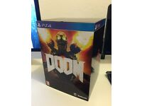 DOOM Collector's Edition PS4 Sony PlayStation 4 Game + Statue + DLC Brand New