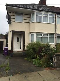 3 Bedroom Semi-detached house with drive and front and rear gardens