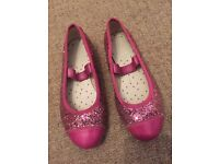 Girls Clarks Pink Party Shoes