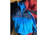 North face blue navy boys jacket hood vgc age 10-12