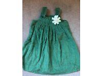 Green Cord Dress. Age 3-4. Unworn