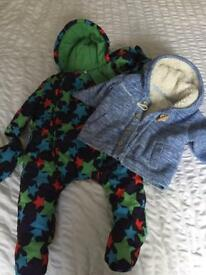 6-9 Months snowsuit and coat