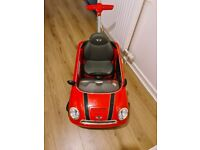 Childs toy car mini cooper s
