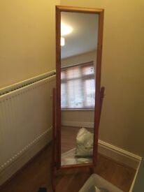 Long free standing mirror