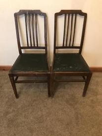 Pair of dining chairs ideal for shabby chic