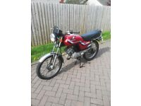 Classic retro Honda H100SII – 1993 -100cc geared 2 stroke, red.
