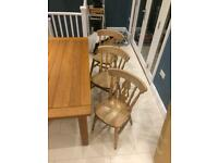 Solid wooden kitchen table and six chairs for sale