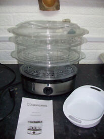 Cookworks 3 Bowl Stainless Steal Steamer