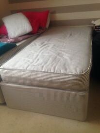 Brand new single bed bought as house warming gift but needed a double instead so it is perfect