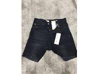 H&M Coachella Black Denim shorts w/tags size 28