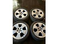 Set of 17inch Audi a4 wheels & tyres
