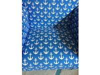 Kids blue anchor armchair