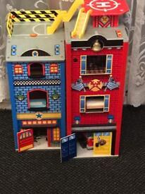Children play fire station