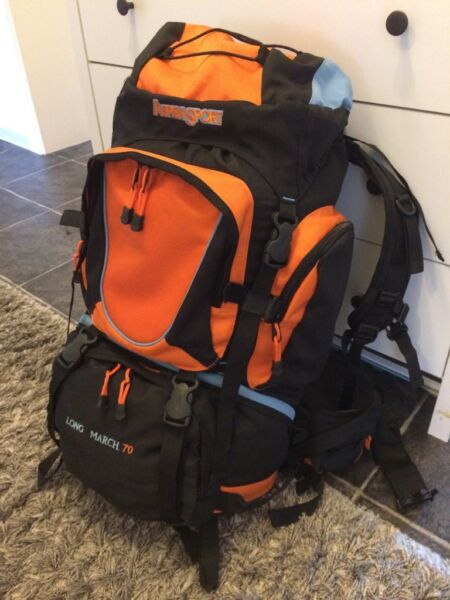 aspensport rucksack long march 70 liter backpacker in niedersachsen braunschweig ebay. Black Bedroom Furniture Sets. Home Design Ideas