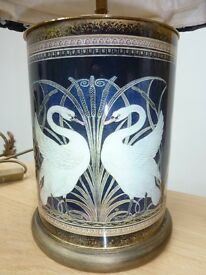 Jenny Worrall Art Nouveau Swan Table Lamp - V&A Limited Edition