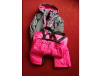 Girls ski jacket and salopettes age 11-12