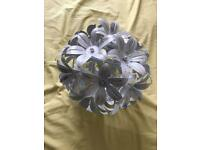 Dunelm Flower Lampshade Pendant