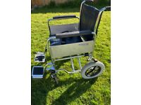Reduced - Roma 1485 Heavy Duty Car Attendant Wheelchair Max weight 140kg
