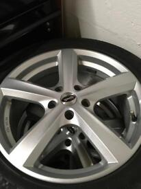 """Set of 17"""" alloys & tyres (excellent condition)"""