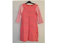 Brand New with Tags Jack Wills Red/Orange & White Striped Dress Size 6