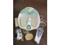 Scholl Foot Spa complete with unused items scissors, files, etc