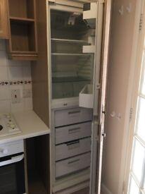 Kitchen units, oven, fridge freezer & hob