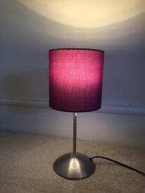 IKEA purple lamp