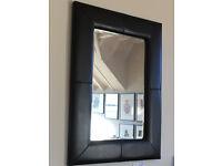 Wall Mirror Leather Frame 90cm x 100cm