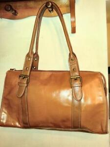 Oakville Anne Klein New Leather Bag Whiskey Brown Ladies Purse Handbag Tote Real Leather Genuine Logo